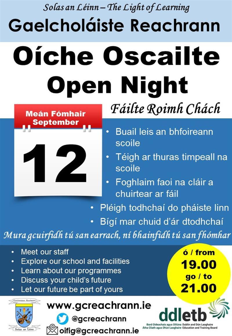 Oíche Oscailte 2019