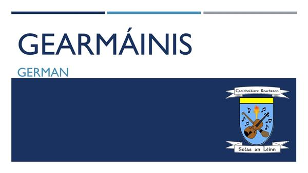 Gearmáinis - Oíche Oscailte